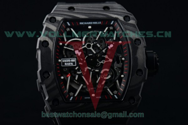 1:1 Richard Mille RM 35-02 RAFAEL NADA Miyota 9015 Skeleton Dial with PVD Case Rubber Strap RM 35-02